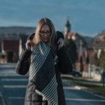 kabát, fekete, stílus, zara, tél